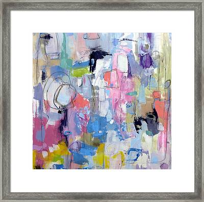 Framed Print featuring the painting Journal by Katie Black