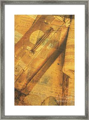 Journalistic Voyage Framed Print