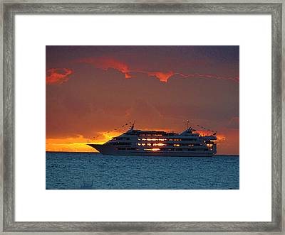 Journey At Sunset Framed Print