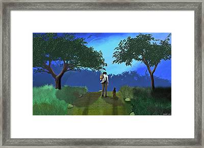Journey From Desparation To Hope Framed Print