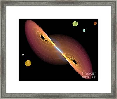 Framed Print featuring the photograph Journey Into Space by Jacqi Elmslie