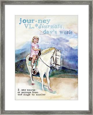 Journey Framed Print by Janice Crow
