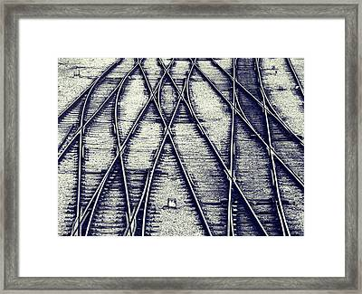 Journey Marks Framed Print