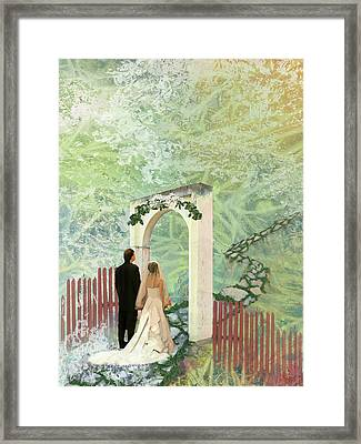 Journey Of Marriage Framed Print by Arlissa Vaughn
