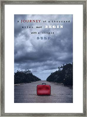 Journey Of Thousand Miles Framed Print by Joana Kruse