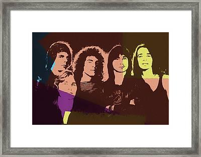 Journey Rock Band Pop Art Framed Print