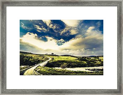 Journey Through Hills And Valleys Framed Print