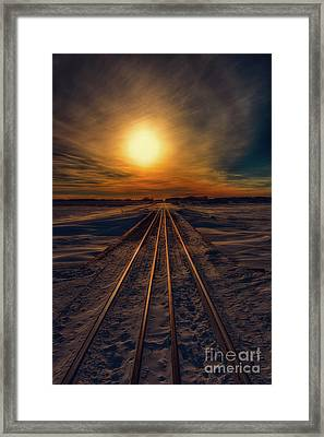 Journey To Sunset Framed Print by Ian McGregor