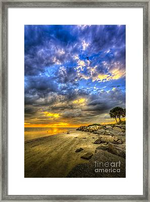 Journey To The Sunset Framed Print