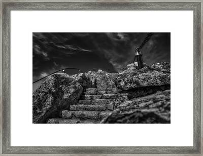 Journey To The Top Framed Print
