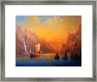 Journey To The Undying Lands Framed Print by Joe  Gilronan
