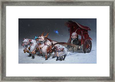 Framed Print featuring the digital art Journey To The West by Te Hu