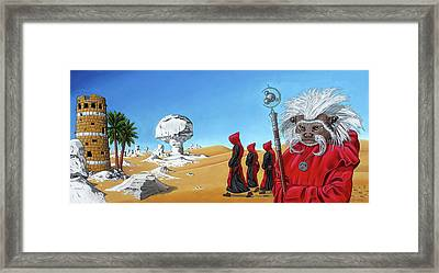 Framed Print featuring the painting Journey To The White Desert by Paxton Mobley