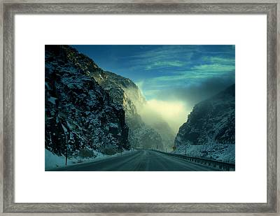 Journeys End.. Framed Print