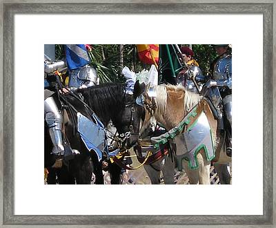 Joust Framed Print by Maria Bonnier-Perez