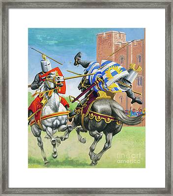 Joust Framed Print by Pat Nicolle