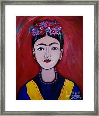 Joven Frida Kahlo Framed Print