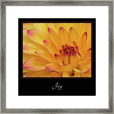 Framed Print featuring the photograph Joy 1 by Mary Jo Allen