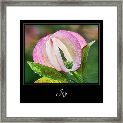Framed Print featuring the photograph Joy 3 by Mary Jo Allen
