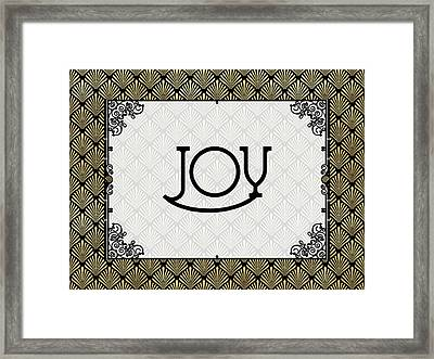 Joy - Art Deco Framed Print