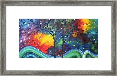 Joy By Madart Framed Print by Megan Duncanson