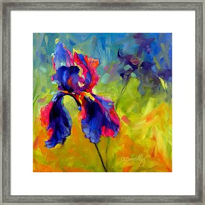 Framed Print featuring the painting Joy In The Morning by Chris Brandley