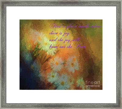 Framed Print featuring the mixed media Joy by Jim  Hatch