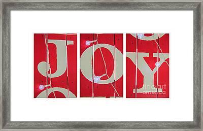 Joy Lights Up My Life Framed Print by Nancy Harrison