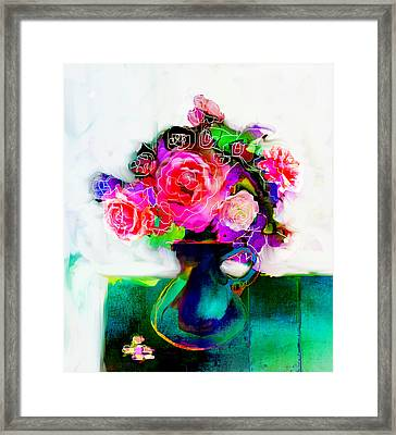 Framed Print featuring the painting Joy by Linde Townsend