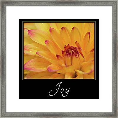 Framed Print featuring the photograph Joy by Mary Jo Allen