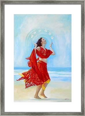 Joy Framed Print by Michal Shimoni