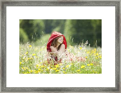 Joy Of Life Framed Print by Wolfgang Steiner