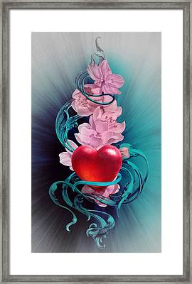 Joy Of Loving Heart Framed Print by Irina Effa