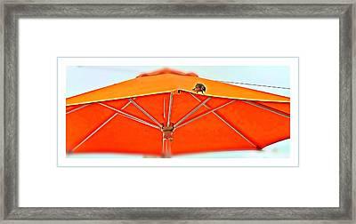Framed Print featuring the digital art Joy On An Umbrella by Mindy Newman