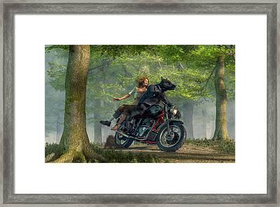 Joy Ride Framed Print