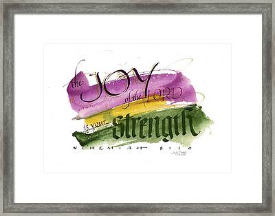 Joy Strength II Framed Print by Judy Dodds