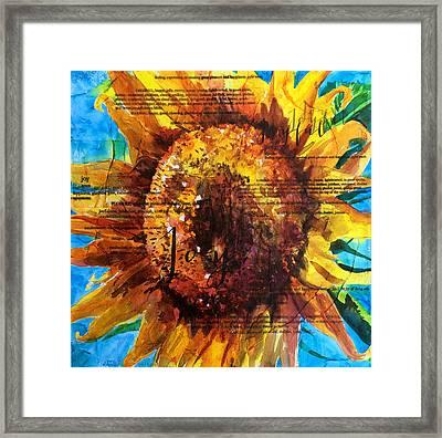 Joy - Sunflower Framed Print by Trish McKinney