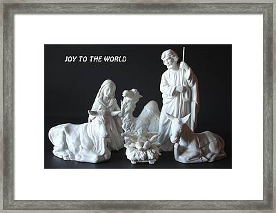 Joy To The World Framed Print by Angela Comperry