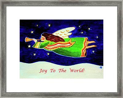 Joy To The World - Verse Framed Print