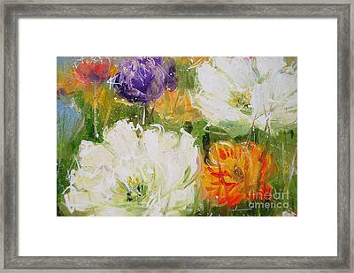 Joy With Tulips Framed Print