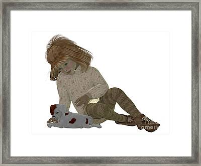 Joyce And King Charles Spaniel Framed Print by Corey Ford