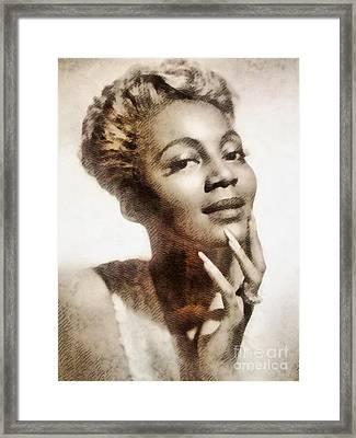 Joyce Bryant, Vintage Singer And Actress Framed Print