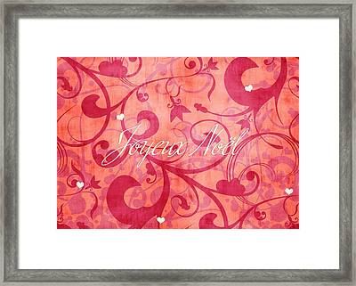 Joyeux Noel  Framed Print by Maggie Terlecki