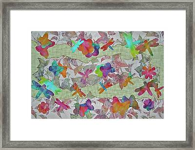 Joyful And Free Framed Print by Bonnie Lanzillotta