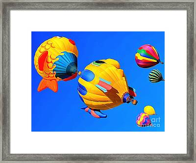 Joyful Flight Framed Print by Krissy Katsimbras