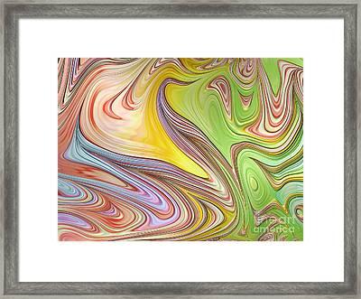 Joyful Flow Framed Print by John Edwards