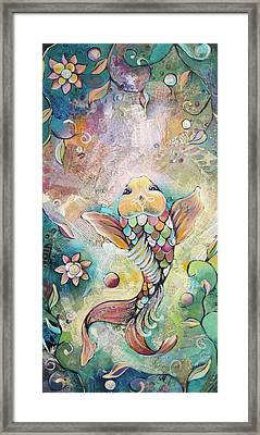 Joyful Koi II Framed Print by Shadia Derbyshire
