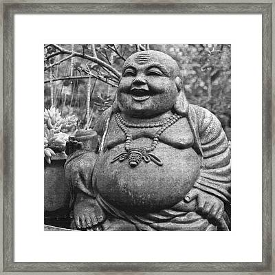 Joyful Lord Buddha Framed Print