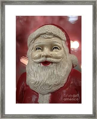 Joyful Santa Framed Print