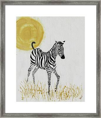 Framed Print featuring the painting Joyful by Stephanie Grant